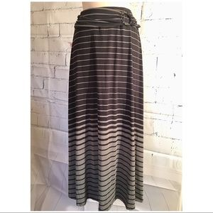 Robert Louis Maxi Striped Skirt